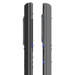 Słupek środkowy do siatkówki stalowy wielofunkcyjny, profil 80x80 mm, naciąg typu SLIM