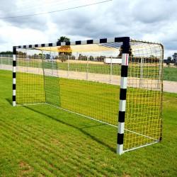 Bramki do piłki nożnej 5x2 m, profil kwadratowy, tulejowane – przedłużone