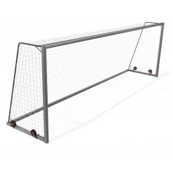 Bramki do piłki nożnej 5x2 m przenośne z kółkami, aluminiowe