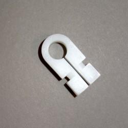 Uchwyt tworzywowy, mocujący siatkę w profilu aluminiowym