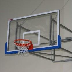 Tablica do koszykówki akrylowa 105x180 cm, grubość szkła 10 mm