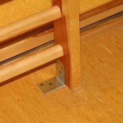 Wspornik montażowy drabinki gimnastycznej do podłogi