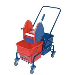 Wózek do sprzątania podwójny, malowany proszkowo