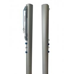 Słupki do siatkówki aluminiowe turniejowe, profil 120x100 mm, naciąg typu SLIM