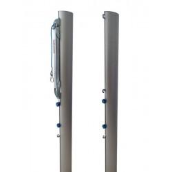 Słupki do siatkówki aluminiowe turniejowe wielofunkcyjne, profil 116x76 mm, naciąg typu SLIM