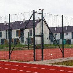 Furtka stalowa do piłkochwytów na boiska zewnętrzne