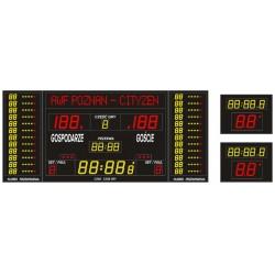 Profesjonalna tablica wyników sportowych ETW 340-185 PRO-L z wbudowaną linią tekstową