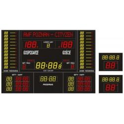 Profesjonalna tablica wyników sportowych ETW 340-205 PRO-L z wbudowaną linią tekstową