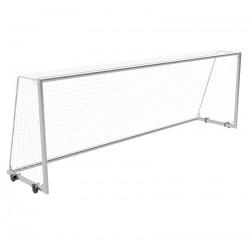 Bramki do piłki nożnej 7,32x2,44 m przejezdne z kółkami, rama główna i rama dolna - profil aluminiowy 120x100 mm