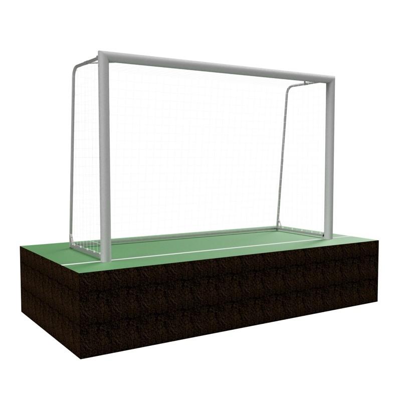 Bramki do piłki nożnej mini 3x2 m z łukami składanymi, profil aluminiowy 120x100 mm, mocowane w tulejach