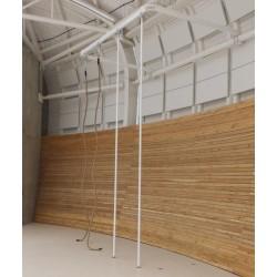 """Konstrukcja stalowa naścienna typu """"U"""" do mocowania drążków i lin do wspinania"""