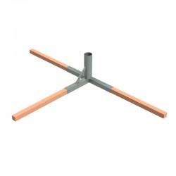 Stalowa tuleja montażowa Φ 133 mm, cynkowana ogniowo, do mocowania aluminiowego słupka do siatkówki plażowej 120x100 mm