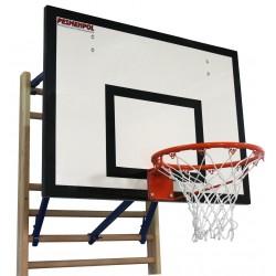 Zestaw do koszykówki zawieszany na drabince gimnastycznej