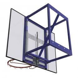 Zestaw do koszykówki naścienny treningowy z regulacją wysokości, wysięg 60 cm