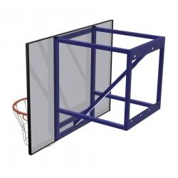 Zestaw do koszykówki naścienny treningowy, wysięg 70 cm