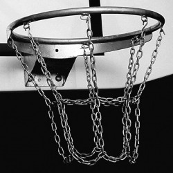 Galvanized chain basketball net, 8 fixing points