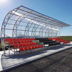 Roofed stationary tribune - for outdoor use