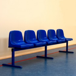 Seats on freestanding structure - movable bench