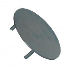 Dekiel maskujący tuleję słupka aluminiowego 120x100 oraz 116x76 mm