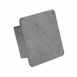 The lid masking assembly sleeve for steel post 80x80 mm
