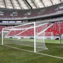 Bramki do piłki nożnej profesjonalne aluminiowe 7,32x2,44 m