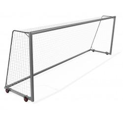 Bramki do piłki nożnej 7,32x2,44 m przejezdne z 4 kółkami