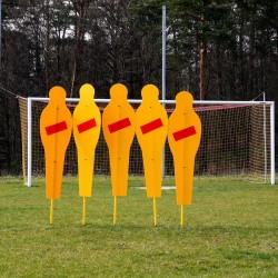 Mur treningowy stały do piłki nożnej (5 postaci)