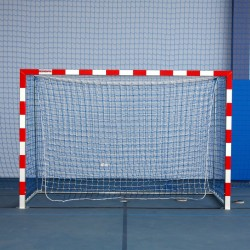 Aluminum handball goals, reinforced profile, the main frame connected in the corners, extended, with folding bows