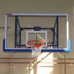 Tablica do koszykówki akrylowa 105x180 cm, grubość szkła 15 mm