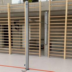 Wall-mounted gymnastic bar, one training field