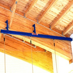 Gymnastic ropes, rings, bars and ladders suspension rail