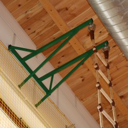 Wall-mounted bracket for fixing rope ladder