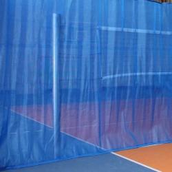 Dividing curtain, semi-transparent polyethylene fabric