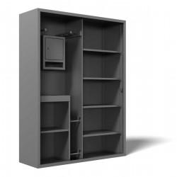 Металлический шкаф для хранения спортивного оборудования SM-150-2Р