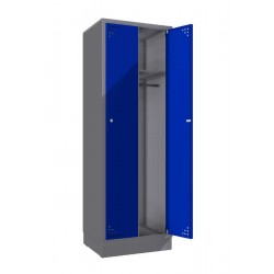 Double steel clothes locker