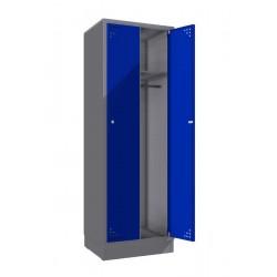 Стальной шкаф для одежды (двойной)
