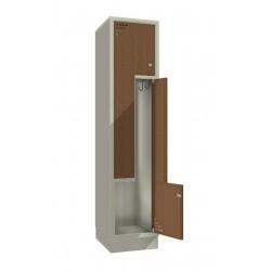 """Стальной шкаф для одежды с дверцами в форме """"L"""" - пара дверей"""