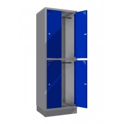 Steel safe locker with 4 compartments