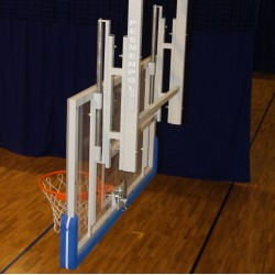 Height adjustment mechanism for basketball backboard 90x120cm