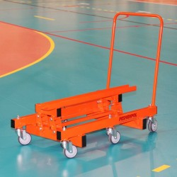 Trolley for transporting tribunes