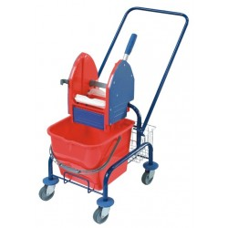 Single trolley for cleaning, painted