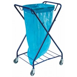 Single trolley for waste, powder coated