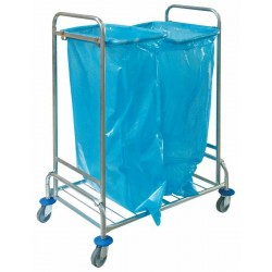 Wózek na odpady podwójny, ocynkowany