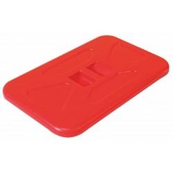 Pokrywa wózka na odpady 120 l nakładana prostokątna (czerwona, niebieska)