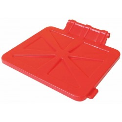Waste trolley cover 120 l, hinged, square (red, blue)
