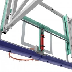 Electrical drive module for basketball backboard height adjustment mechanism