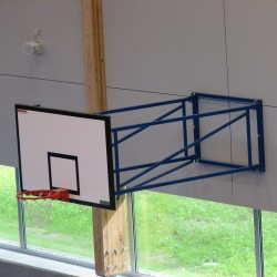Tilting basketball structure, side wall foldable, projection 170 - 220 cm