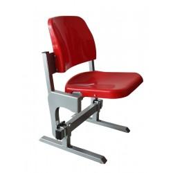 Siedzisko z uchylnym grawitacyjnie siedzeniem