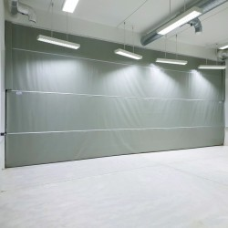 Double-layer dividing curtain, made of PVC