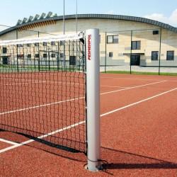 Profesjonalne aluminiowe słupki do tenisa ziemnego, profil 120x100 mm